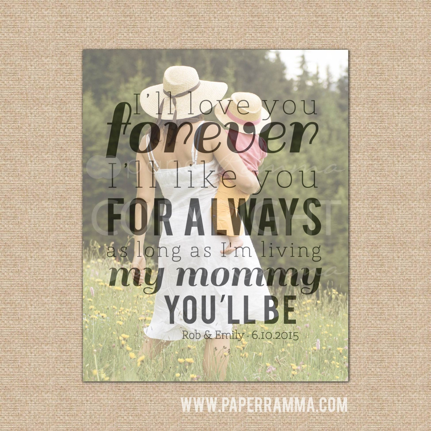 I Ll Love You Forever Quote I'll Love You Forever Quote Art For Mom Mother Daughter