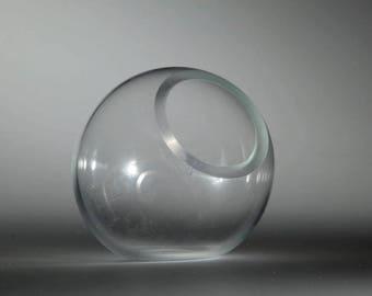 Small Clear Glass Vessel