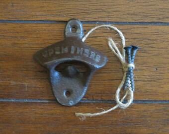 Chocolate Brown Bottle Opener / Cast Iron /Vintage Inspired / Mancave /Kitchen Decor/Gameroom/Patio/Groomsman Gift/Stocking Stuffer