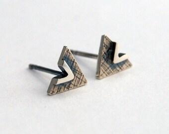 Triangle studs geometric earrings