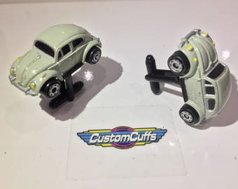 VW Beetle - Vintage Micro Machine Car Cufflinks. Perfect Christmas Gift