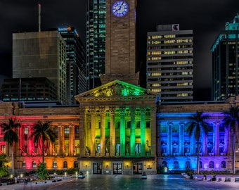 Rainbow City Hall Print
