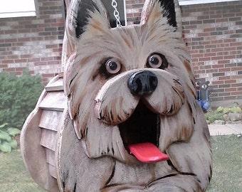 Cairn terrier Dog Birdhouse or Feeder
