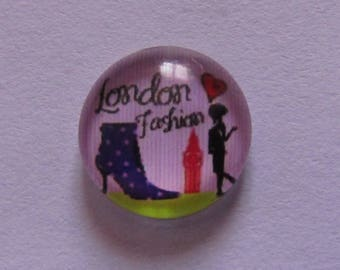 3 cabochons 12mm glass fashion theme