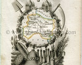 1823 Perrot Map of MARNE,...