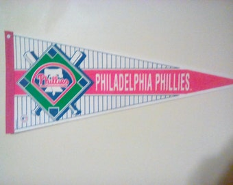 Philadelphia Baseball Pennant-Official MBA Product-Major Baseball Association Label-Philadelphia Pa Baseball Pendant,Pendants,Pennant,Phill