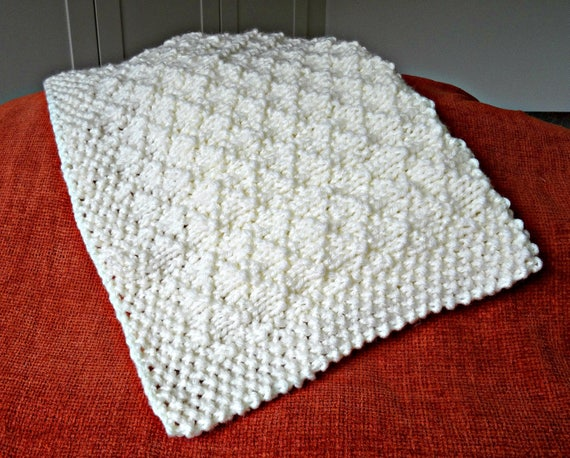 Easy Knitting Pattern Baby Blanket Super Chunky Criss Cross From