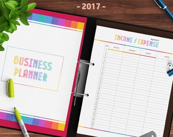 Business Planner, Organizer, 2017, Orders, Contacts, Weekly Plan, Monthly Planner, 2017 Calendars, 8,5x11, Direct Sales