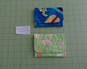 quilted gift card holder, lipstick etc, 5 3/4 X 3 1/2 approximately, your choice of #1 or #2, man, woman