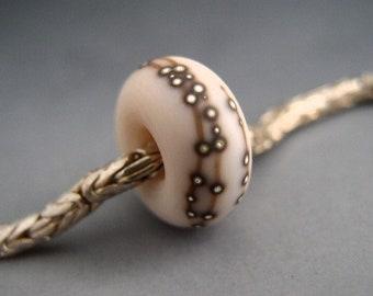 Naos Glass Codex Powder Made To Order Light Pink Handmade Lampwork Charm Bead fits European Bracelets Big Hole SRA