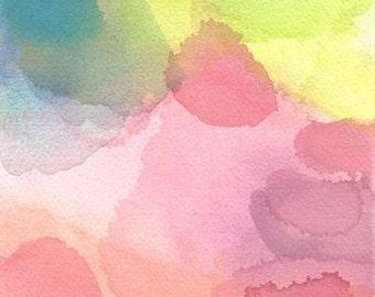 Art Print, Abstract Watercolor Painting, Air