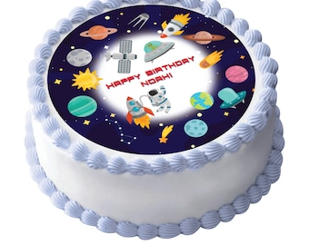 Outer Space edible cake image