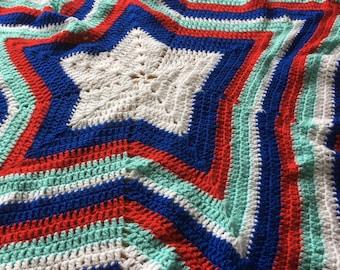 Large Crochet Star Blanket