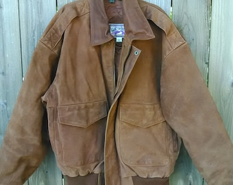 WaterShed William Barry Suede Leather Jacket size Large