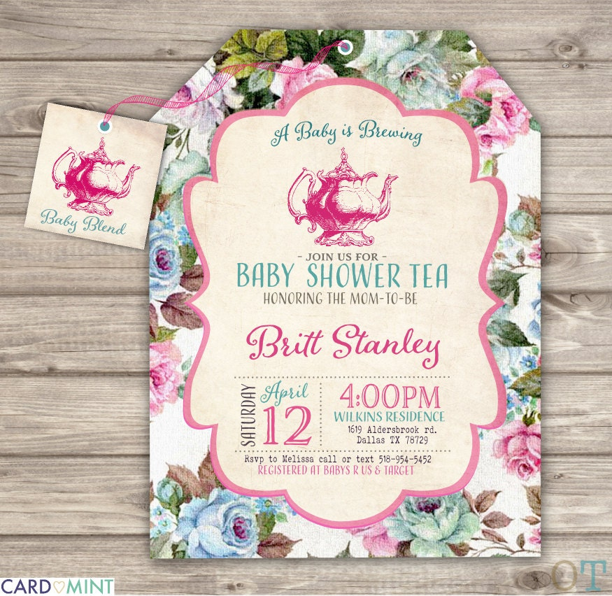 a Baby is Brewing Baby Shower TeaPrintable Invitations Theme