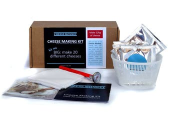Cheese Making Kit - make 20 different artisan cheeses.