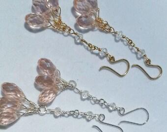 Chandelier Briolette Crystal Earrings