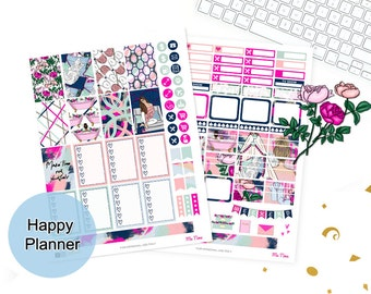 Fashion girl stickers, Happy Planner stickers, Printable Mambi Weekly kit, Glam girly planner, Lavieprints, spring planner mambi, THP, trend