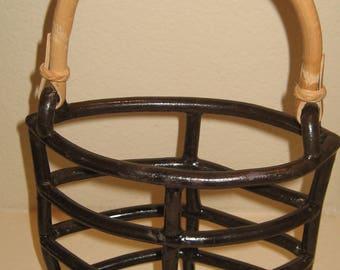 Hand Built Pottery Open Basket