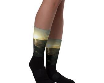 Florida sunset socks
