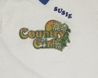 "Vintage ""Country Girl"" Tshirt, Ringer tee"