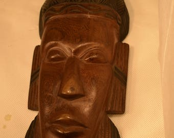 Handcrafted Wooden Mask, Beautiful Piece