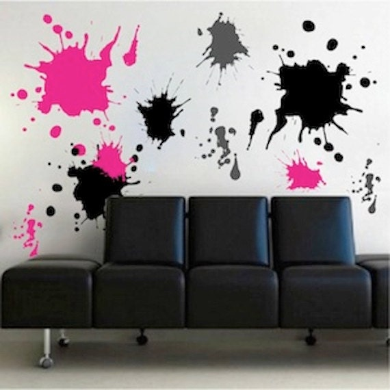 Merveilleux Description. Ink Splash Wall Decals ...