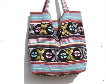Handbag / large tote / Beach / African wax print.