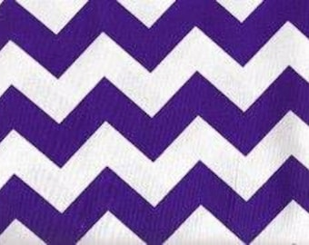 Prestige American Chevron - Purple/White Cotton Fabric