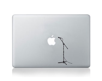 Microphone Vinyl Decal for Macbook (13/15) or Laptop