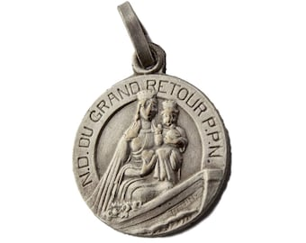 Our Lady Of Great Return - Antique French Religious Medal Pendant By Penin - Religious Gift