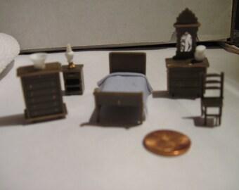 1/4 Scale Miniature Furniture, Bedroom Furniture Set,  Mini Craft Furniture