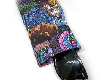 Beauty and the Beast Stain glass sunglass case 4