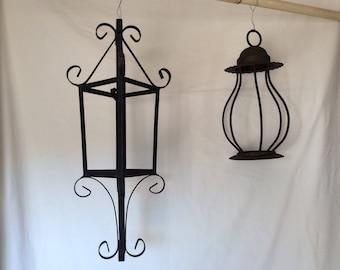 Vintage Lanterns~Vintage Candle Holders~Metal Lantern
