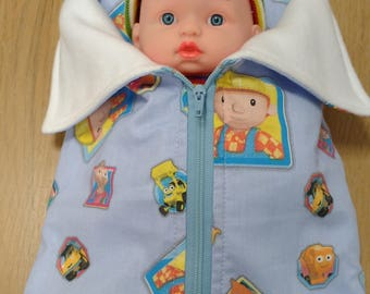 """Dolls sleeping bag and pillow/ Sleeping bag and pillow for 10"""" doll/ With doll or without doll"""