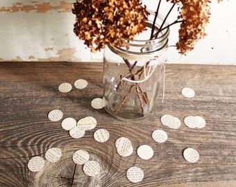 décoration de mariage fête confetti - 500 cercles de papier, pages de livre, amour histoire mariage Centre de table