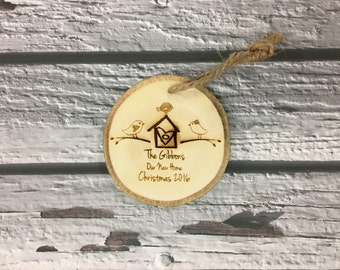 First Home Ornament, New Home Ornament, New Home Christmas Ornament, First Home Housewarming Gift, New Homeowner, Wood Engraved Ornament