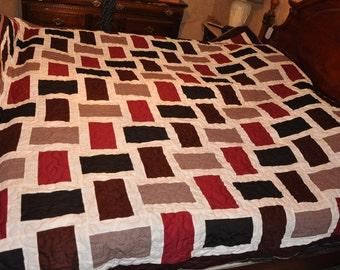 Fractions King Sized Patchwork Quilt