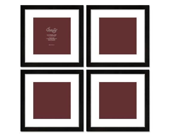 craig frames 14x14 inch black picture frame white mat with. Black Bedroom Furniture Sets. Home Design Ideas