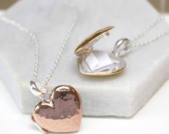 Personalised Locket Pendant - Secret Message - Keepsake -  mothers day - Bridesmaid/Flower Girl Gift - Birthday present - Gift for her