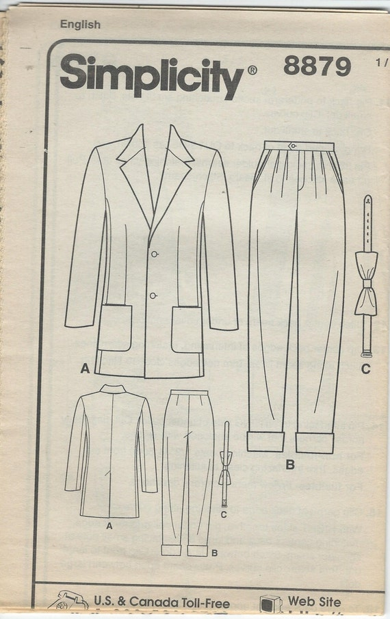 UNCUT Simplicity 8879 Sewing Pattern Retro Fashion Collection