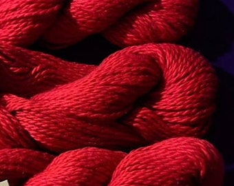 Red,  Pima, Wold's Fines Cotton And Mulberry Wold's Fines Silk,  ATTITUDE  Yarn For Knitting / Crocheting. Made in Peru.