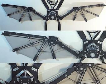 Deluxe Steampunk Wings - Open 6 Feet Wide