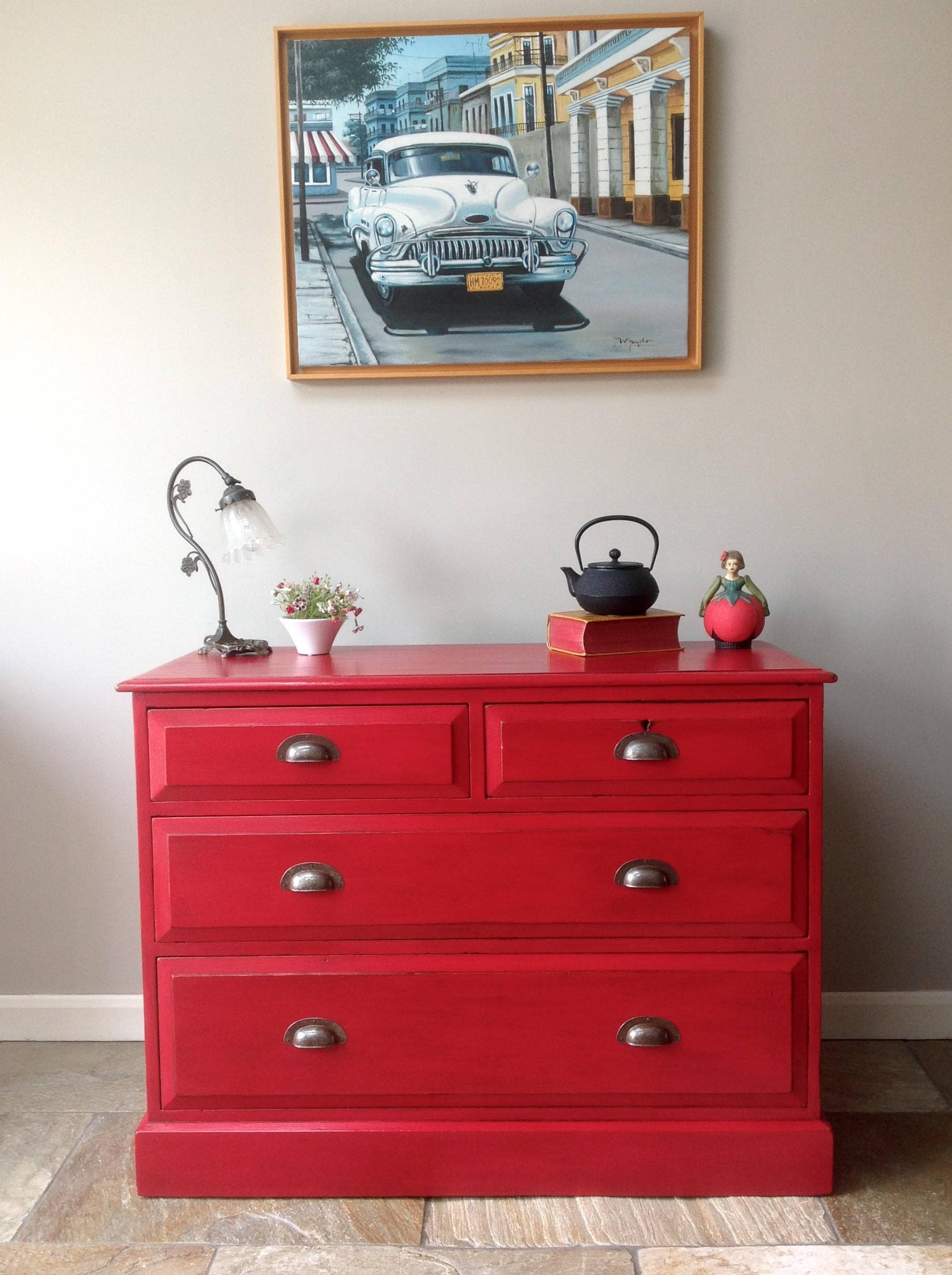 the red century drawers chest from made drawer lovely piece wood each gloss of