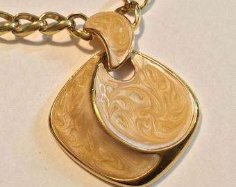 NAPIER Vintage Necklace with Enamel Pendant