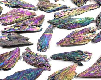 """Kyanite """"brooms"""" Rainbow Titanium Aura (5x)"""