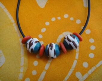 Recycled African Glass Beaded Necklace