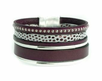 Your Plum leather cuff