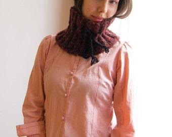 Red Fire Woll Knitt Neckwarmer