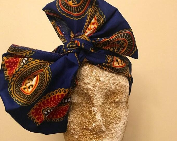 Indigo Kuchena Half Head Wrap